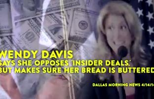 "Greg Abbott's gubernatorial campaign has released a web ad called ""Oh, The Hypocrisy"" that attacks his Democratic opponent Wendy Davis over perceived conflicts between her legal clients and her work as a state senator."