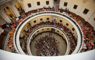 """Before lawmakers gaveled in for the second special legislative session on Monday afternoon, abortion rights advocates sang their own rendition of """"Amazing Grace"""" in the Capitol rotunda."""