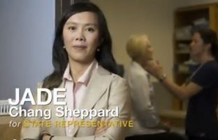 In the special election for the open House District 50 seat in Austin, Democrat Jade Chang Sheppard is on TV with an ad promoting her support for affordable health care, money for schools and less high-stakes testing of students.