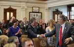 State lawmakers and their families filled the Texas Capitol in Austin on Tuesday for the start of the 2015 legislative session – a day complete with formalities, pomp and a vote for House speaker.