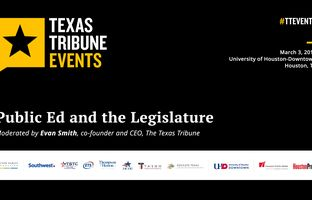 Texas Tribune CEO Evan Smith interviews state Rep. Dan Huberty and state Sen. Larry Taylor — their chambers' respective education chairman — on the 85th Texas Legislature's approach to public ed.
