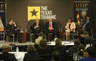 At our 2/27 symposium on demographic change at the University of Texas at El Paso, I talked education with TEA Commissioner Michael Williams, UT System Chancellor Francisco Cigarroa, Higher Ed Coordinating Board Chair Harold Hahn and San Elizario ISD Superintendent Sylvia Hopp.