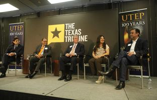 At our 2/27 symposium on demographic change at the University of Texas at El Paso, the Trib's Julián Aguilar talked about the changing political map with state Sen. José Rodríguez, D-El Paso, state Rep. Mary González, D-Clint, former state Rep. Dee Margo, R-El Paso, and George Antuna, co-founder of Hispanic Republicans of Texas.