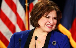 Texas voters will see two women at the top of the Democratic ticket in the 2014 election. State Sen. Leticia Van de Putte made her run for lieutenant governor official Saturday in San Antonio.