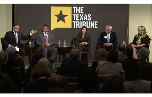 At the Trib's February 25 symposium on public education at Rice University, I talked accountability and student testing with Robert Duron, the state's deputy commissioner of education; Susan Kellner of Texans Advocating for Meaningful Student Assessment; Tom Pauken of the Texas Workforce Commission; and former U.S. Secretary of Education Margaret Spellings.