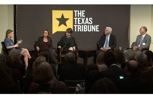 At the Trib's February 25 symposium on public education at Rice University, Morgan Smith talked about the prospect of greater choice and more charters with Caprice Young of the Laura and John Arnold Foundation, Rosemary Perlmeter of Teaching Trust, Duncan Klussmann of Spring Branch Independent School District and David Anthony of Raise Your Hand Texas.