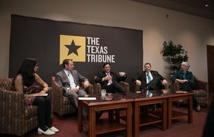 At our 3/10 symposium on water, Neena Satija talked about the politics of groundwater with state Rep. Jason Isaac, R-Dripping Springs, Billy Howe of the Texas Farm Bureau, Kyle Frazier of the Texas Desalination Association and Dianne Wassenich of the San Marcos River Foundation.
