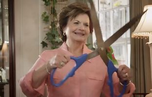 In a new television ad, state Rep. Linda Harper-Brown, R-Irving, turns her scissors on almost everything to make the point that she wants to cut spending in state government. She faces former state Rep. Rodney Anderson, R-Grand Prairie, in the primary.