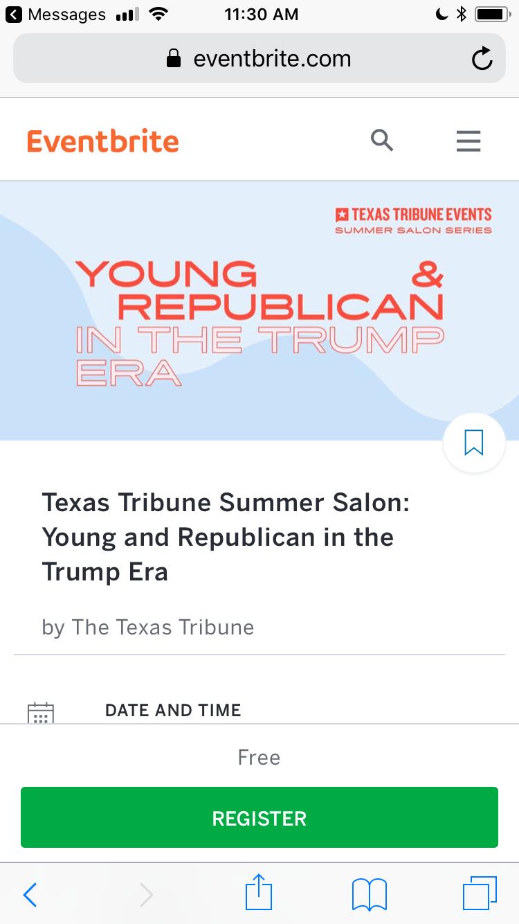 Screenshot: Events that inspire diverse audiences